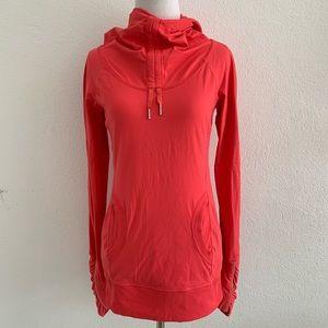 Lululemon Red Long Sleeve Hoodie Top Size 4
